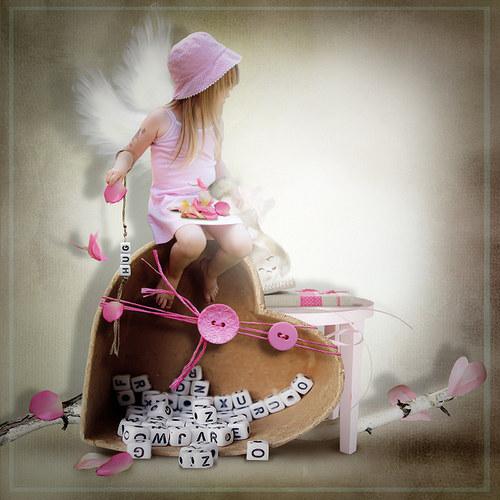 Scrap z vaší fotky (kit I Love Pink)
