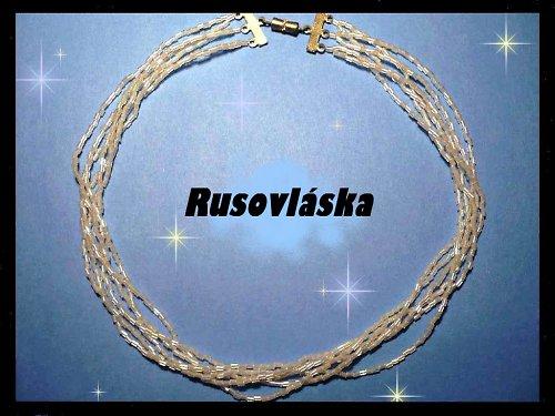 Trubičkový náhrdelník