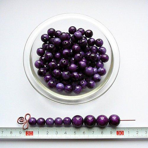Mramorová kulička 10, fialová, 10 ks, sleva