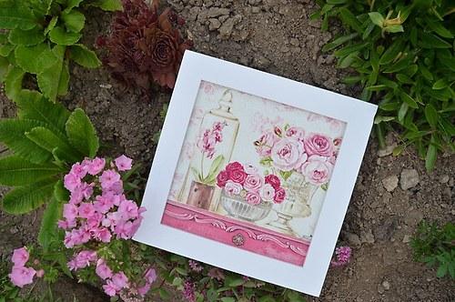 Obrázek - zátiší s růžemi