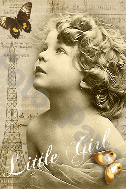Vintage motiv - malá holčička