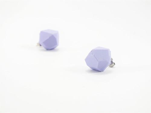 Náušnice krystal lilac