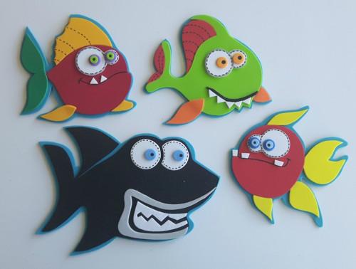 2D sada na tvoření - Ryby