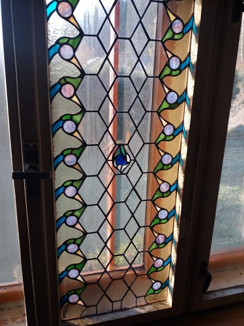 Vitrážové okenní sklo BREAKINGtheWAVES