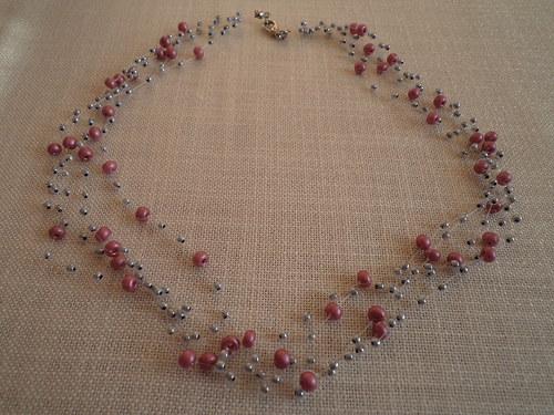 Růžová se stříbrnou