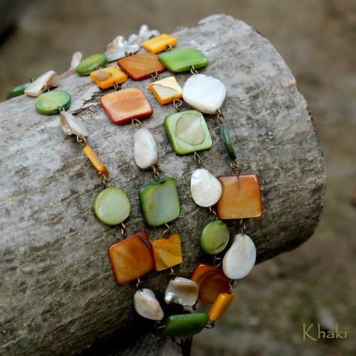 Lesní -  perleťové korále