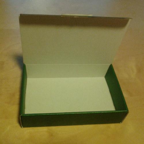 Dárková krabička větší zelená/bílá