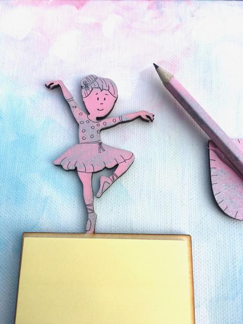 Magnetické  bločky/zápisníky s tužkou - Baletka
