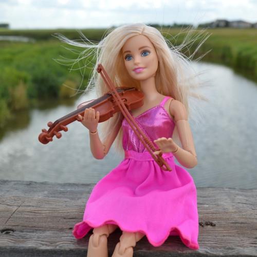 Panel 25x25cm Houslistka Barbie