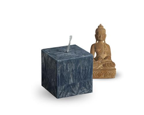 Svíčka z palmového vosku - malá kostka - černá