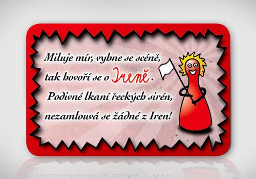 Poetická magnetka se jménem Irena