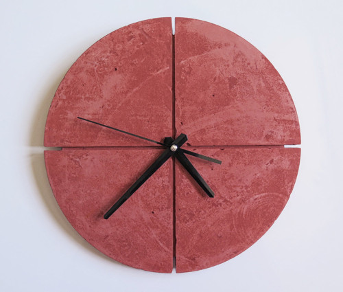 Ručne vyrobené nástenné hodiny – Terracotta pure q