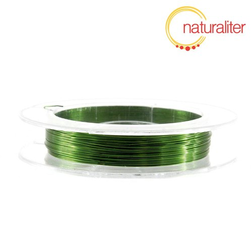 Lakovaný měděný drátek 0,3mm zelený - 10m