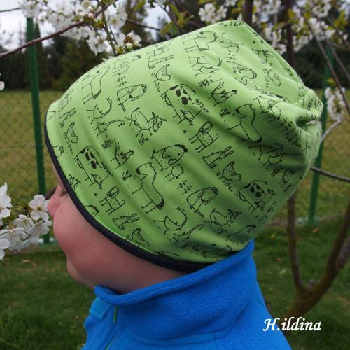 Jarní - podzimní čepice NA FARMĚ vel. 54-56