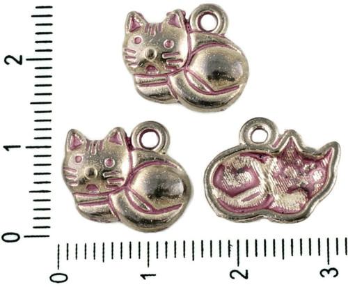 12ks české Valentine Růžová Patina Antique Silver