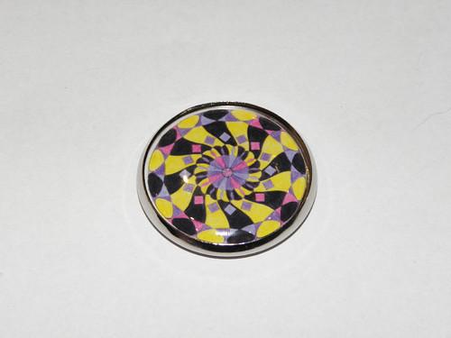 MandalaStyl Vnitřní klid ve fialové - magnetka