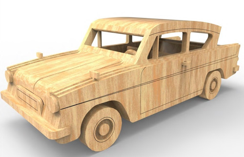 Dřevěná skládačka Ford E Anglia
