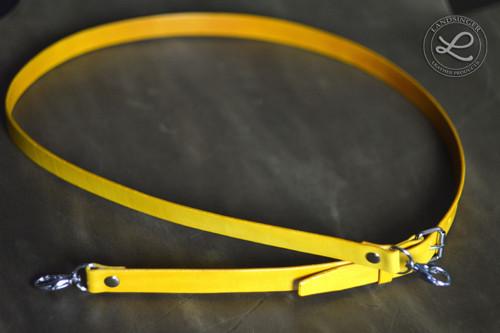 Kožený popruh - žlutý, polotovar na kabelku