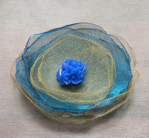 Květinová brož, velká - 23