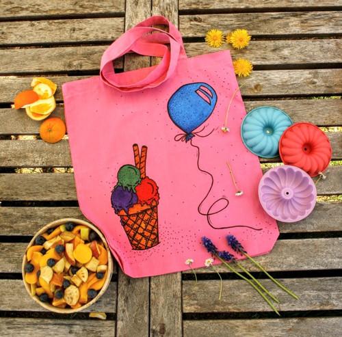 Nákupní taška - Ice cream and baloon