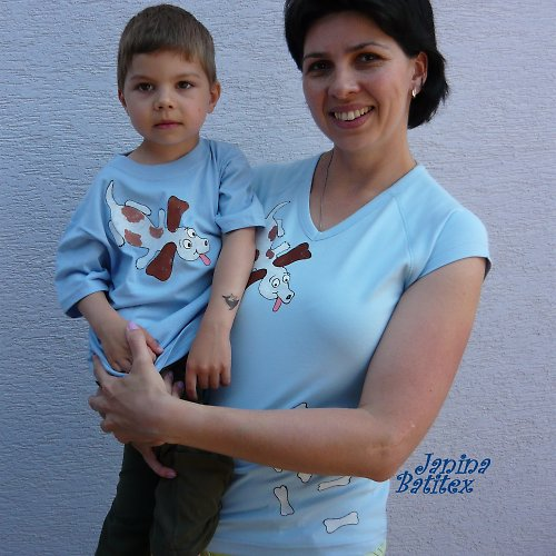 Set - Dětské a dámské tričko - Mlsný jazýček
