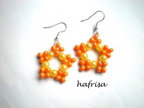 Oranžovo - žluté hvězdičky-sleva z 49 na 45Kč