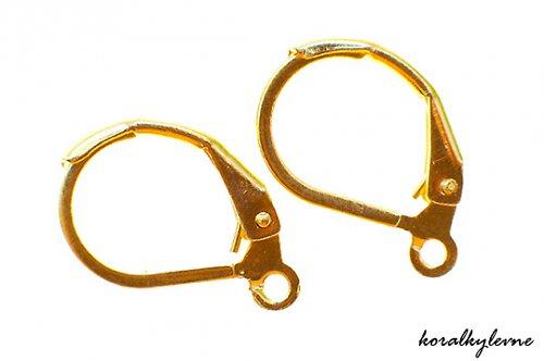 Náušnicová klipsa zlatá 15mm