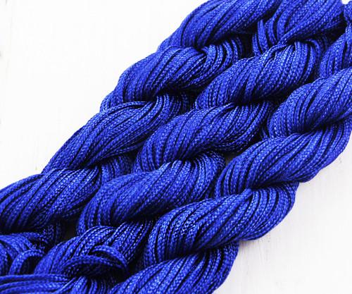 28m 90 stop 30yrd Modré Nylon Kabel Twisted Pleten
