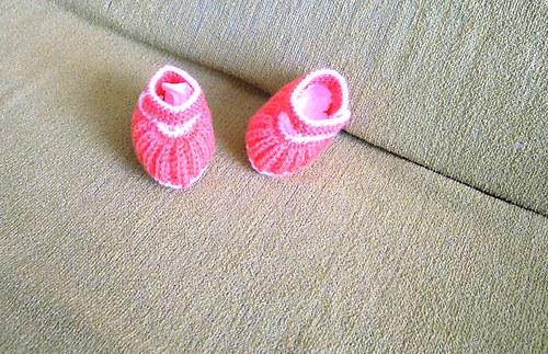 Botičky pletené pro holčičku