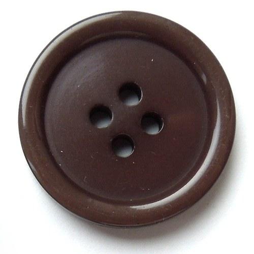 Knoflík hnědý 22 mm