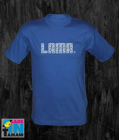 Pánské modré royal tričko Lama 04