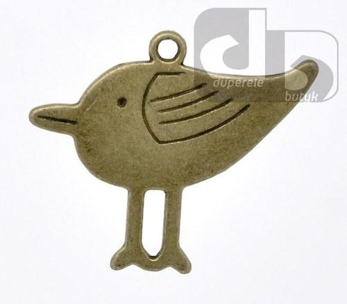 Bronzový přívěšek - ptáček 32 x 27 mm -1 ks