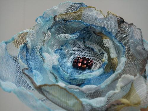 sponka - modrá květina