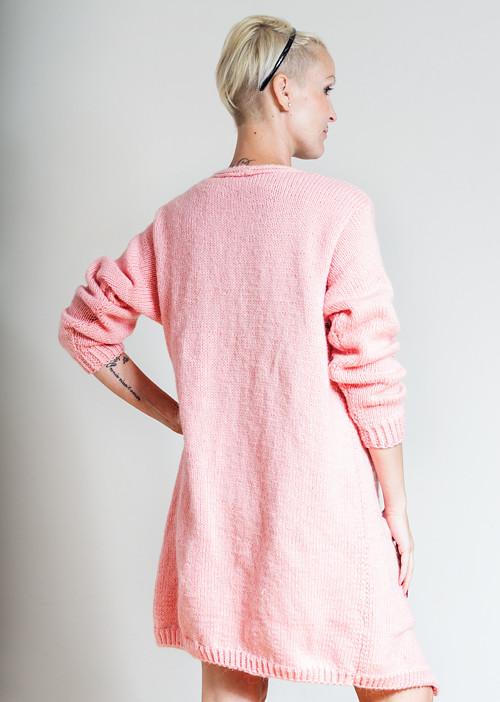 Měkkoučký růžový kardigan; vel.S