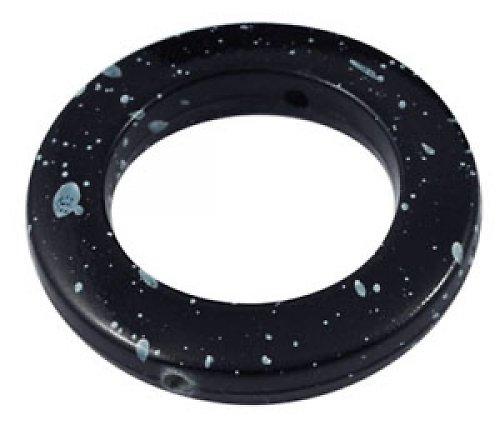 Akryl. černý donut se skvrnami, 3ks - VÝPRODEJ!