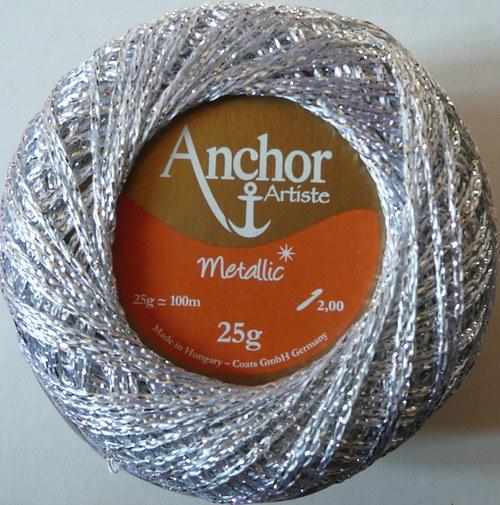Anchor Artiste Metallic - stříbrná