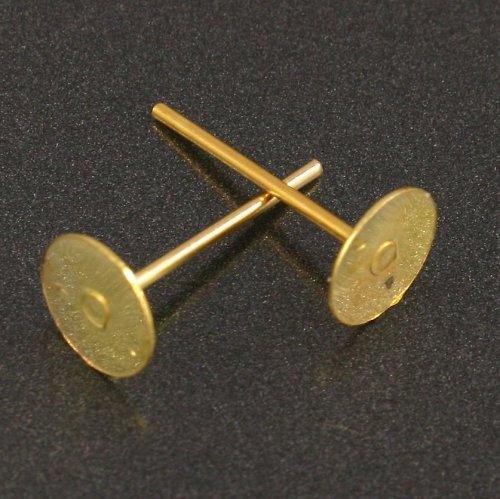 Zlaté puzety 12x6mm 10ks