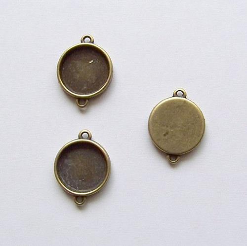 konektor (ramínko)/ ant.bronz / 26x19mm / 10ks