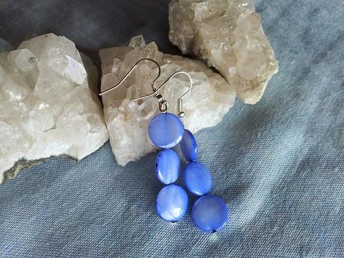 Náušnice z modré perleťi