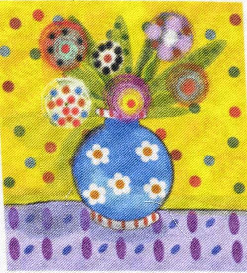 bavlněná látka - panel  8 x 8,5 cm