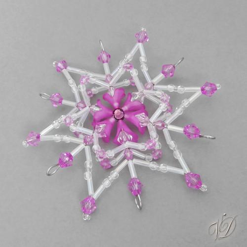Vánoční korálková hvězda KO238 (PEVNÁ A NEREZ)