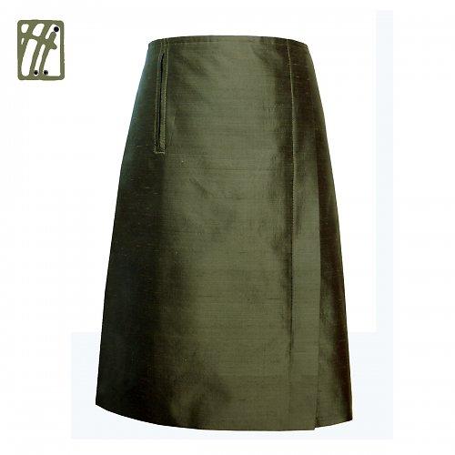 Společenská sukně khaki