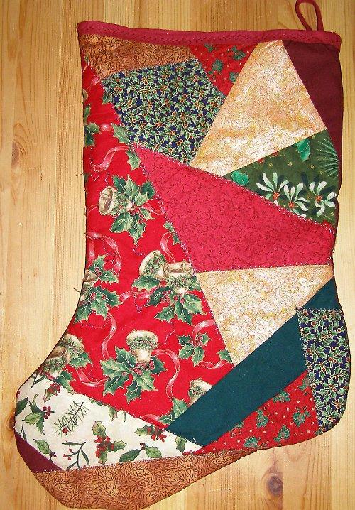 Mikulášská či vánoční punčocha- crazy patchwork