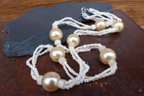 Koulovaná...skleněný náhrdelník, Jablonecko