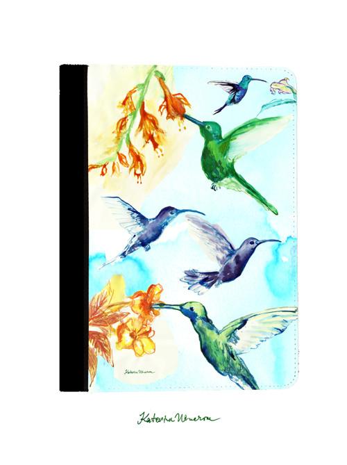 Kolibřík v modré obloze - iPad 2/3/4 Obal