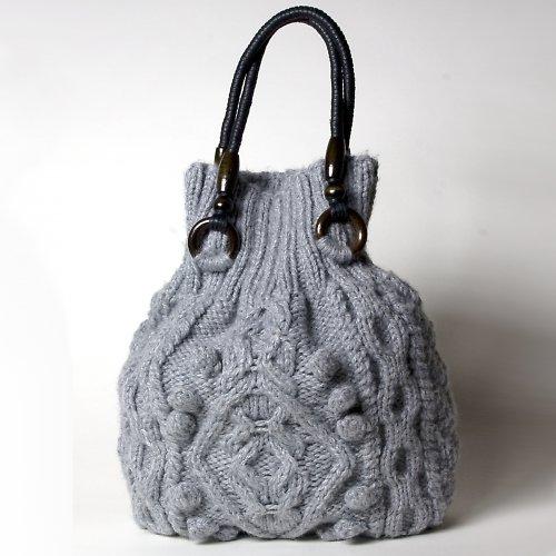 popis - návod na pletenou kabelku