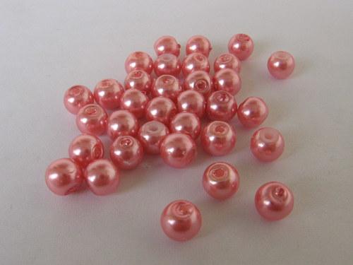 Vosková perla - světle lososová 5 mm / 20 ks