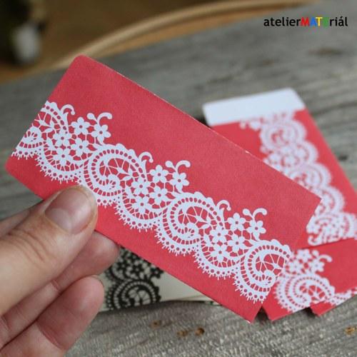 Papírové pytlíčky 10ks(5+5) - krajka