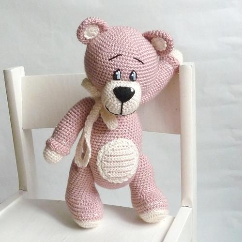 Medvídek - jemně starorůžový - na objednávku