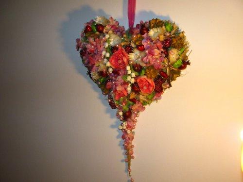 Bohatě zdobené srdce